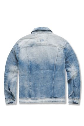 Short Stripes Denim Plain Street Style Denim Jackets Jackets