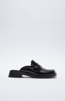 ZARA Square Toe Rubber Sole Casual Style Office Style