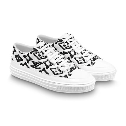 Louis Vuitton Monogram Casual Style Street Style Logo Low-Top Sneakers