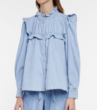 Denim Long Sleeves Medium Shirts & Blouses