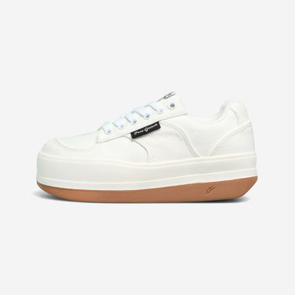 Logo Casual Style Unisex Street Style Low-Top Sneakers