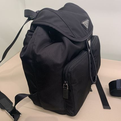 PRADA RE NYLON Casual Style Nylon Plain Backpacks