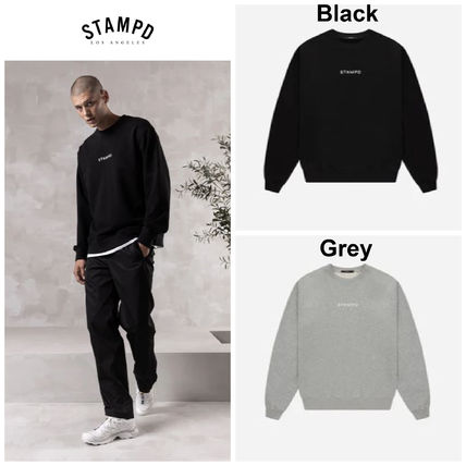Stampd' LA Sweatshirts Crew Neck Pullovers Street Style Long Sleeves Cotton Logo