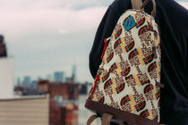 GUCCI Backpacks Unisex Nylon Street Style Collaboration Logo Backpacks 5