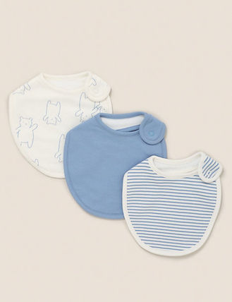 Marks&Spencer Co-ord Unisex Baby Boy Bibs & Burp Cloths