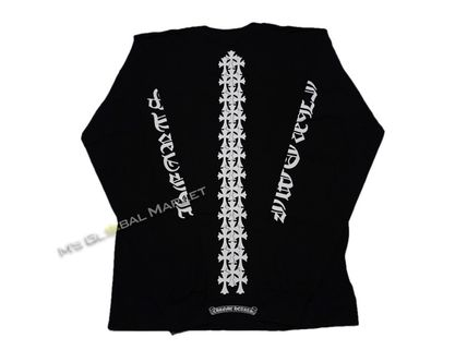 CHROME HEARTS CH CROSS Unisex Long Sleeves Cotton Long Sleeve T-shirt