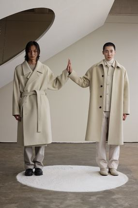 IN SILENCE Wool Cashmere Plain Oversized Coats
