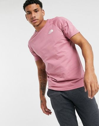 THE NORTH FACE Crew Neck Crew Neck Plain Cotton Short Sleeves Logo Outdoor 2