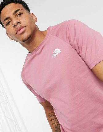 THE NORTH FACE Crew Neck Crew Neck Plain Cotton Short Sleeves Logo Outdoor 3