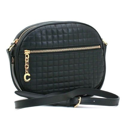 CELINE C Small C Charm Bag In Quilted Calfskin