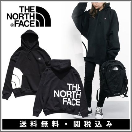 THE NORTH FACE Street Style Bi-color Long Sleeves Plain Medium Gowns