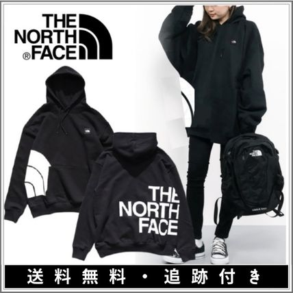 THE NORTH FACE Street Style Bi-color Long Sleeves Plain Medium Gowns Logo