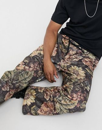 Printed Pants Flower Patterns Patterned Pants