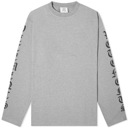 VETEMENTS Crew Neck Pullovers Street Style Long Sleeves Plain Cotton