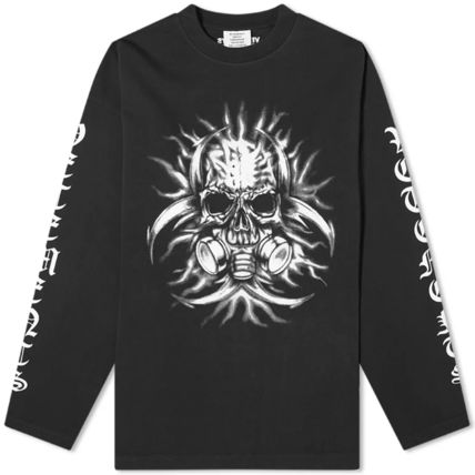 VETEMENTS Crew Neck Pullovers Skull Street Style Long Sleeves Plain
