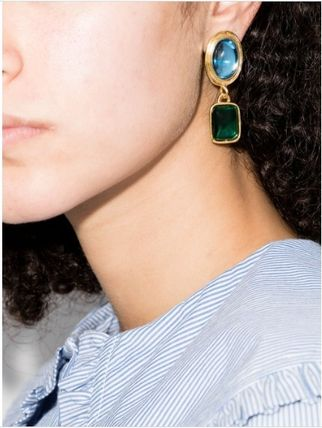 Casual Style Party Style 18K Gold Earrings
