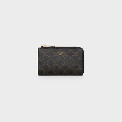 CELINE Triomphe Zipped Coin Purse In Triomphe Canvas
