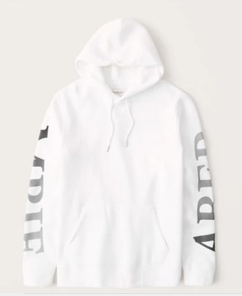 Abercrombie & Fitch Hoodies Long Sleeves Plain Cotton Logo Surf Style Hoodies 2