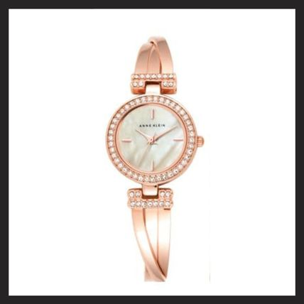 Casual Style Chain Metal Round Party Style Quartz Watches