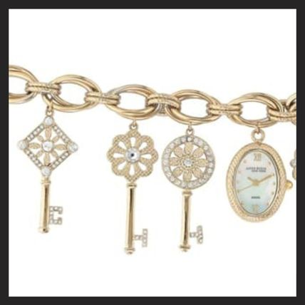 Chain Metal Round Party Style Quartz Watches With Jewels