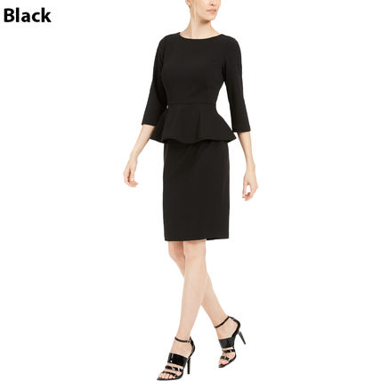 Tight Boat Neck Cropped Plain Medium Party Style