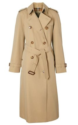 Burberry Other Plaid Patterns Plain Long Trench Coats