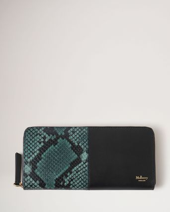 Mulberry Green Python Wallet