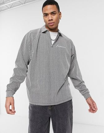 ASOS Polos Pullovers Stripes Street Style Long Sleeves Plain 2