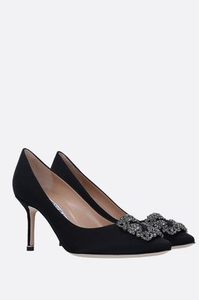 Manolo Blahnik Hangisi Formal Style  Casual Style Plain Pin Heels Party Style