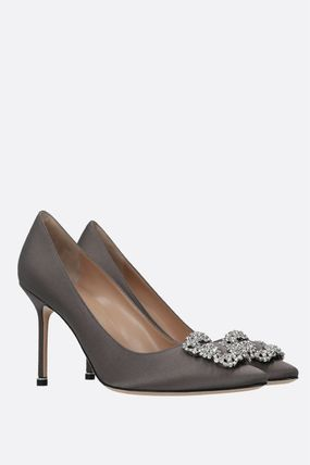 Manolo Blahnik Hangisi Casual Style Plain Pin Heels Party Style Elegant Style