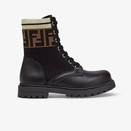 FENDI Unisex Blended Fabrics Kids Girl Boots