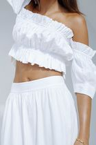 Maurie and Eve Platinum Short Plain Cotton Cropped