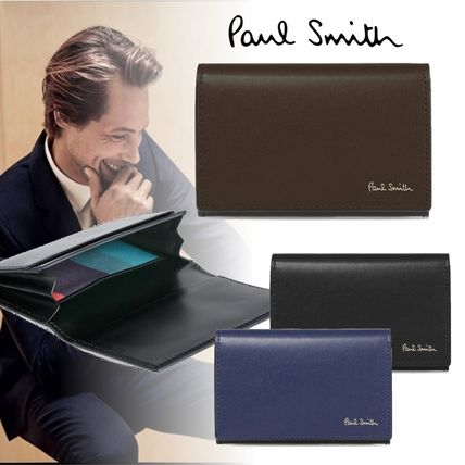 Paul Smith Logo Plain Leather Card Holders