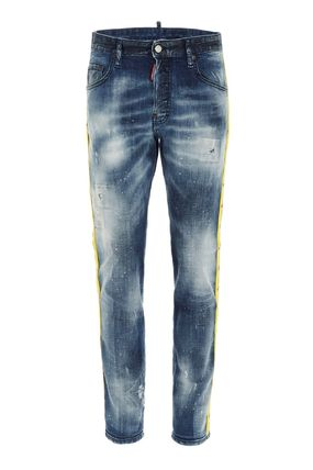 D SQUARED2 Denim Plain Cotton Logo Jeans