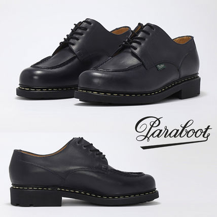 Paraboot CHAMBORD_Paraboot Loafers Unisex Street Style Plain Leather Loafers & Slip-ons