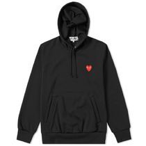 PLAY COMME des GARCONS Pullovers Street Style Long Sleeves Plain Logo Hoodies