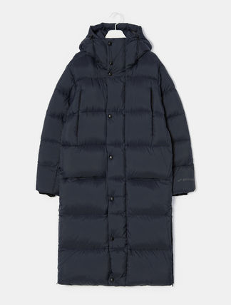 Unisex Plain Long Down Jackets