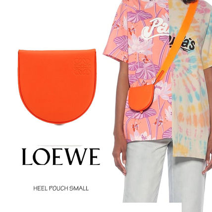 LOEWE Anagram Casual Style Unisex Vanity Bags Plain Leather Party Style