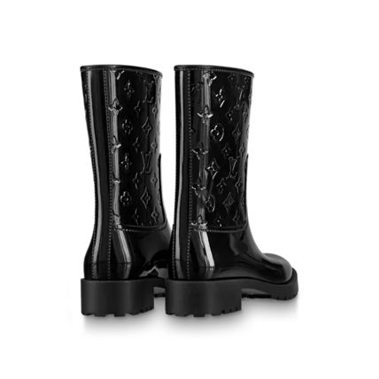 Louis Vuitton Monogram Plain Logo Rain Boots Boots
