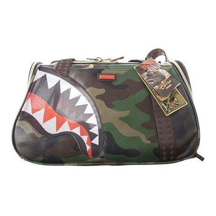 Camouflage A4 2WAY PVC Clothing Boston Bags