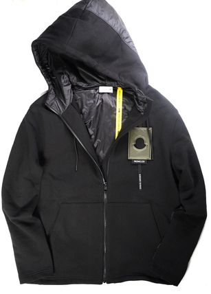 MONCLER MONCLER GENIUS Sweat Nylon Blended Fabrics Long Sleeves Hoodies