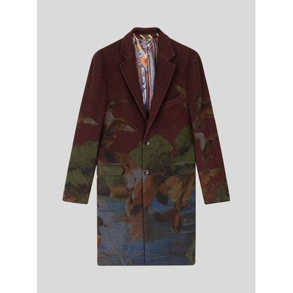 ETRO Stripes Paisley Wool Cashmere Long Bold Chester Coats