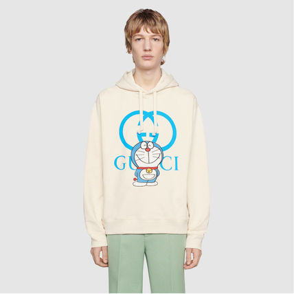 GUCCI Pullovers Unisex Street Style Long Sleeves Cotton Luxury