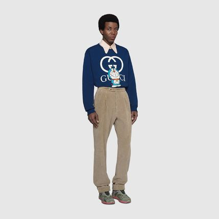 GUCCI Crew Neck Pullovers Long Sleeves Cotton Luxury Sweatshirts
