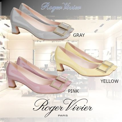 Roger Vivier Square Toe Casual Style Plain Party Style Elegant Style