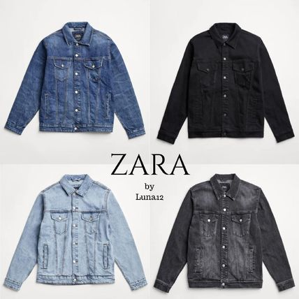 ZARA Denim Plain Denim Jackets Jackets