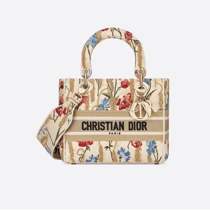 Christian Dior Flower Patterns Casual Style Street Style 2WAY 3WAY Handmade
