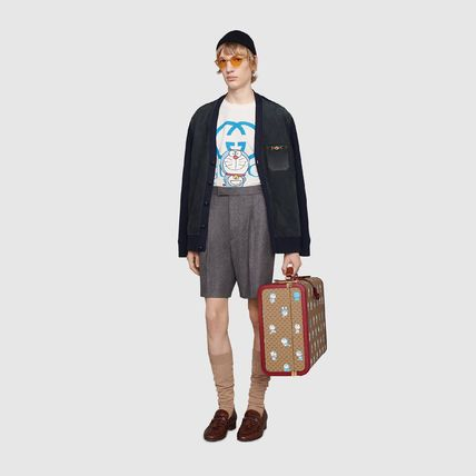 GUCCI Crew Neck Pullovers Street Style Collaboration Cotton
