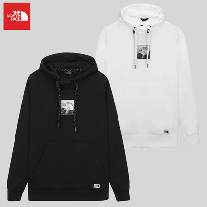 THE NORTH FACE Unisex Street Style Long Sleeves Logo Outdoor Hoodies