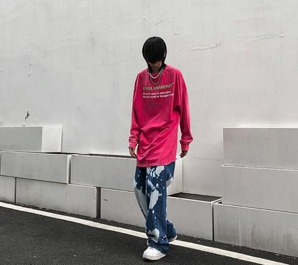 More Jeans Printed Pants Denim Street Style Oversized Jeans 3